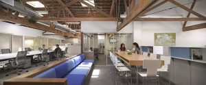 L'area coworking BlankPages di Los Angeles.